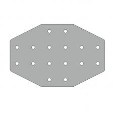 Пластина 176х116, серия 30, паз 8мм