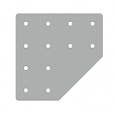 Пластина 156х156, серия 40, паз 10мм