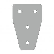 Пластина 76х116, серия 40, паз 10мм