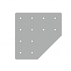 Пластина 131х131, серия 45, паз 10мм