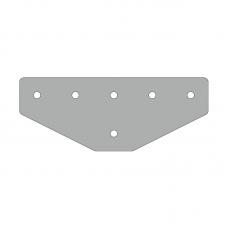 Пластина 221х86, серия 45, паз 10мм