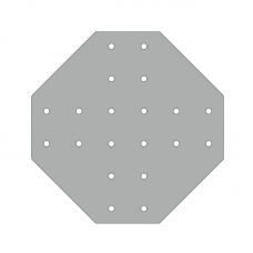 Пластина 266х266, серия 45, паз 10мм