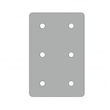 Пластина 86х131, серия 45, паз 10мм